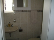En suite toilet, shower and basin for main bedroom