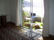 Sliding door opens from lounge to garden terrace