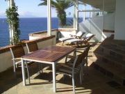 Sunny terrace with incredible sea vista