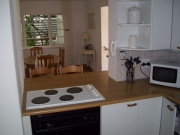 From kitchen towards dining room