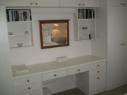 Dressing table and cupboards 2nd bedroom