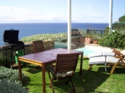Garden Terrace with plunge pool loungers and gas griller