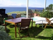 Sunny garden terrace with full facilities and plunge pool