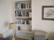 Small library in the lounge
